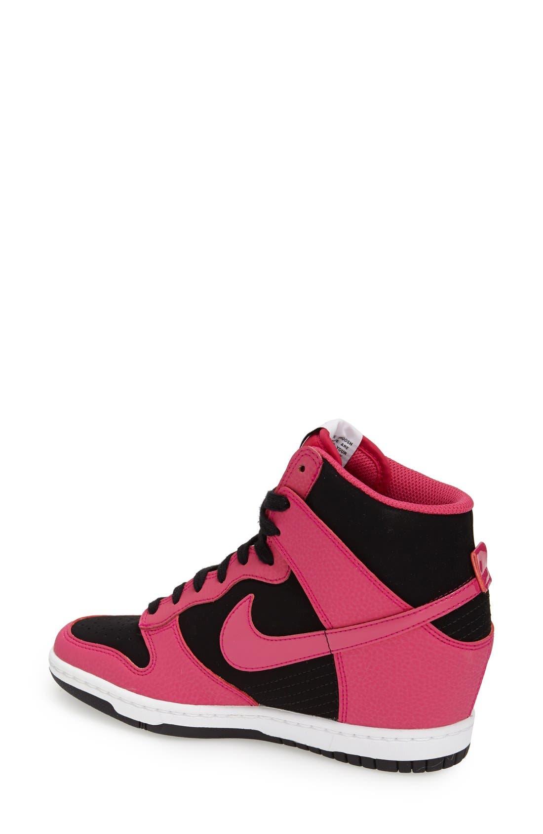 ,                             'Dunk Sky Hi - Essential' Wedge Sneaker,                             Alternate thumbnail 22, color,                             010