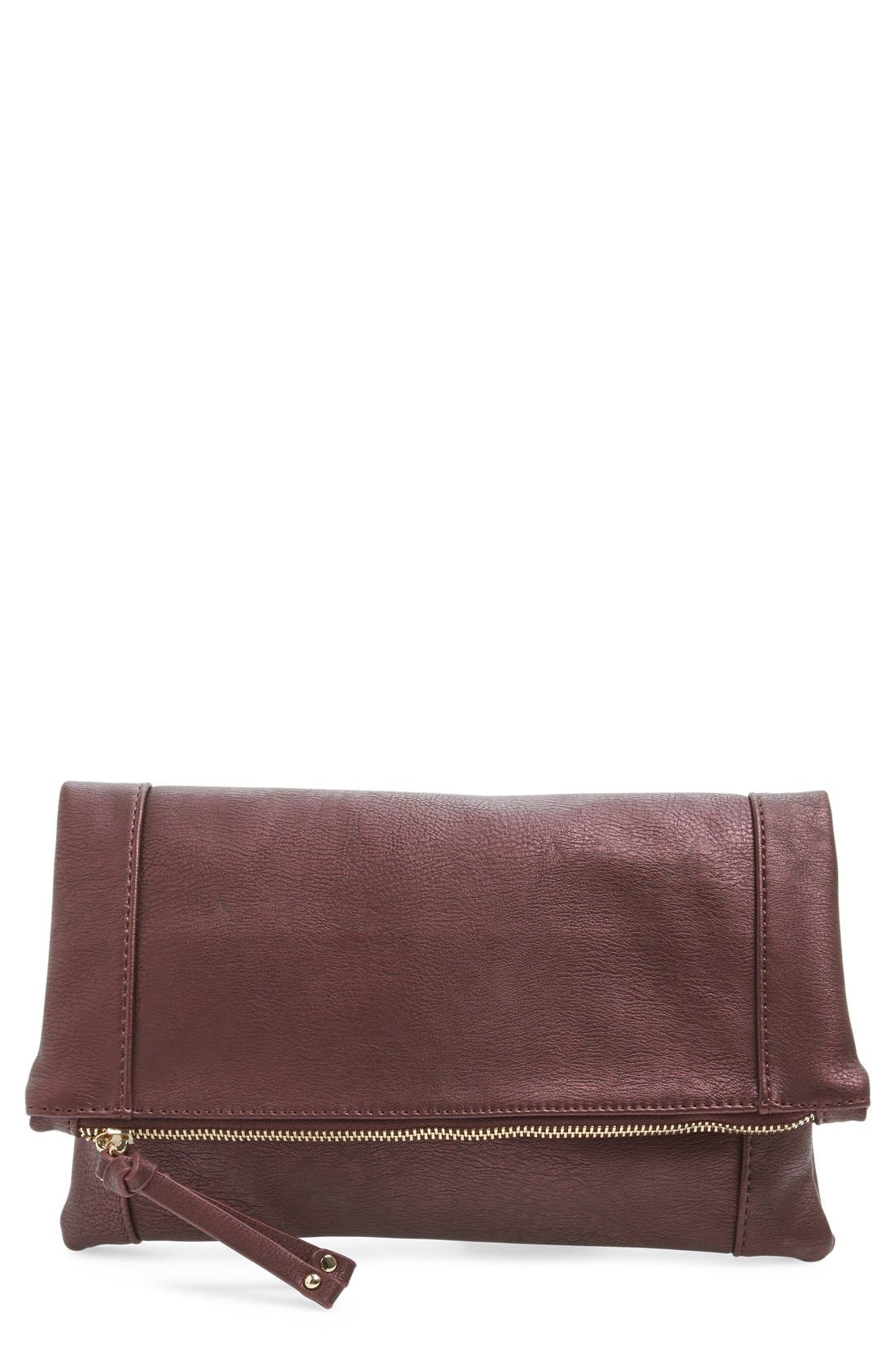 ,                             Marlena Faux Leather Foldover Clutch,                             Main thumbnail 65, color,                             500
