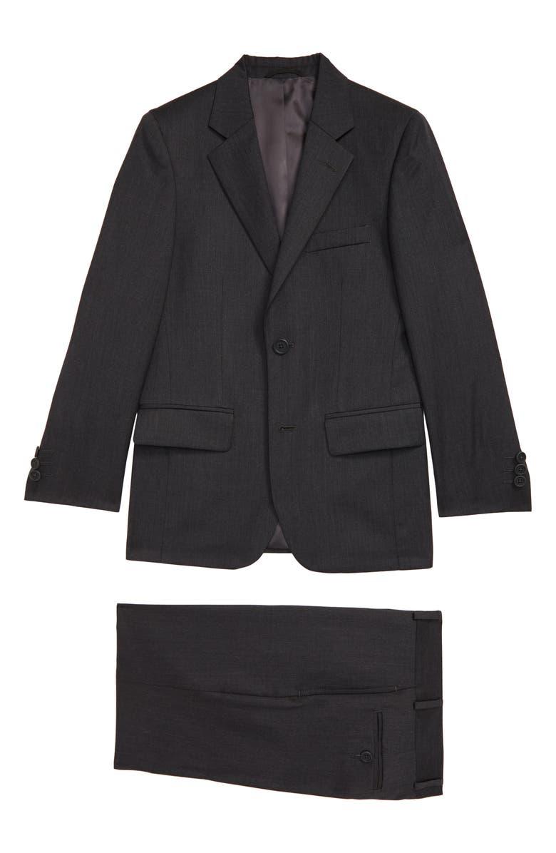 JB JR. Two-Piece Charcoal Suit, Main, color, CHARCOAL