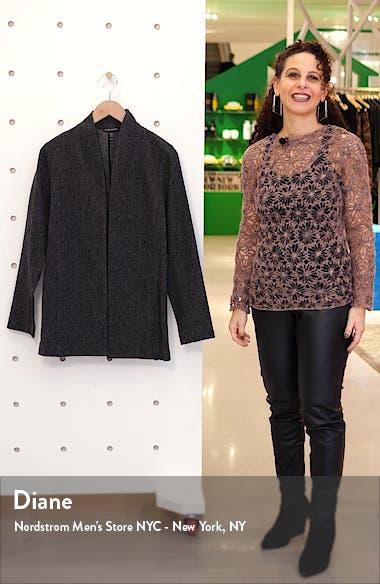 High Neck Cotton Blend Jacquard Jacket, sales video thumbnail