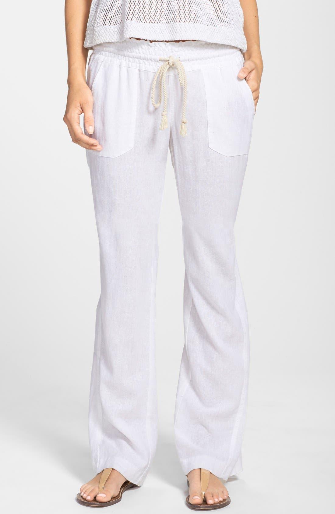 Women's Roxy Oceanside Linen Blend Beach Pants