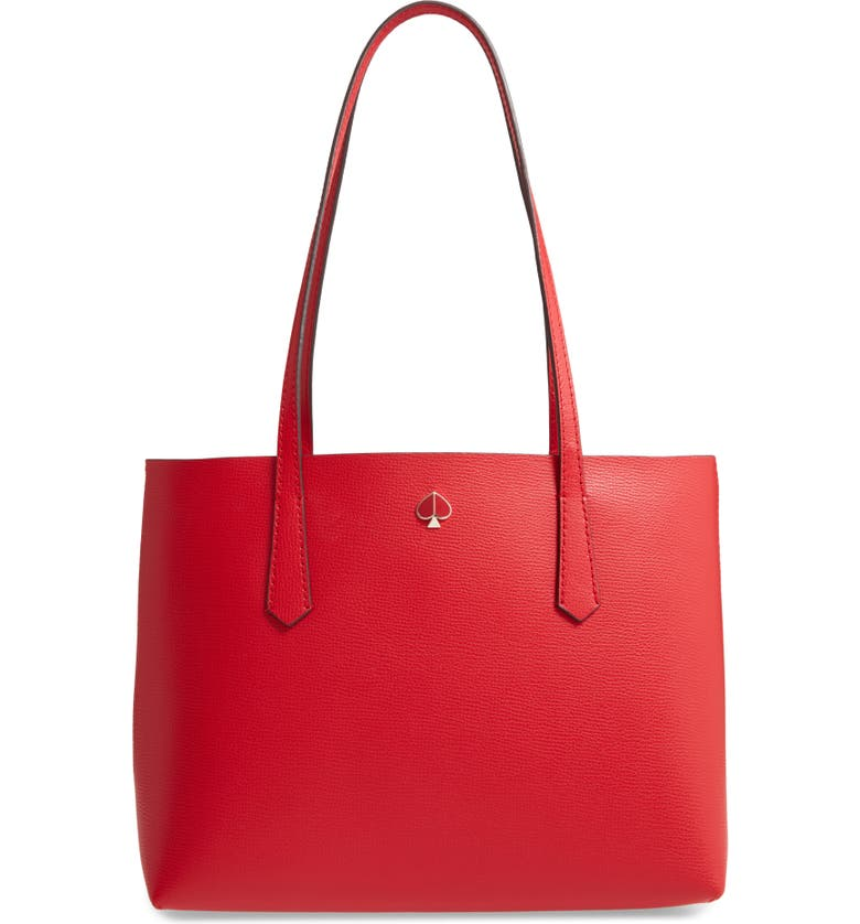 KATE SPADE NEW YORK small molly leather tote, Main, color, 611