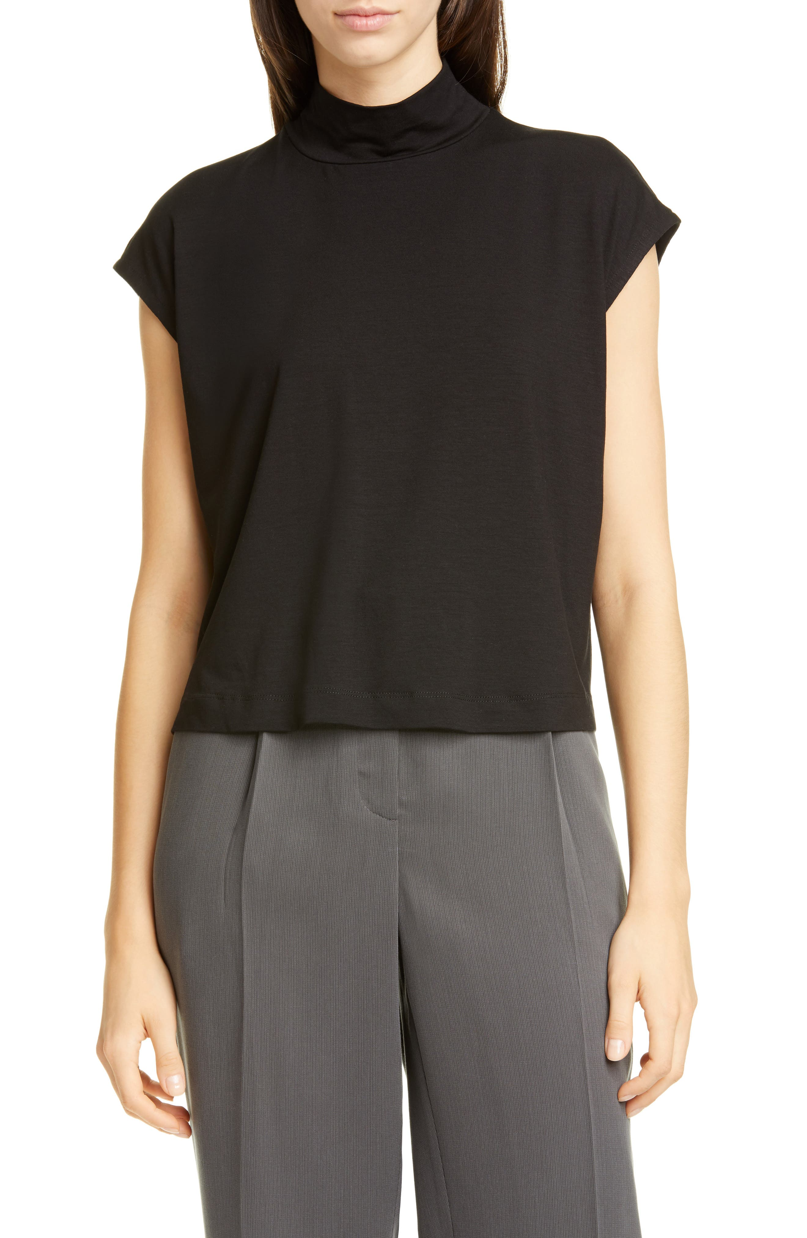 Eileen Fisher Tops Mock Neck Stretch Tencel<sup>®</sup> Lyocell Top