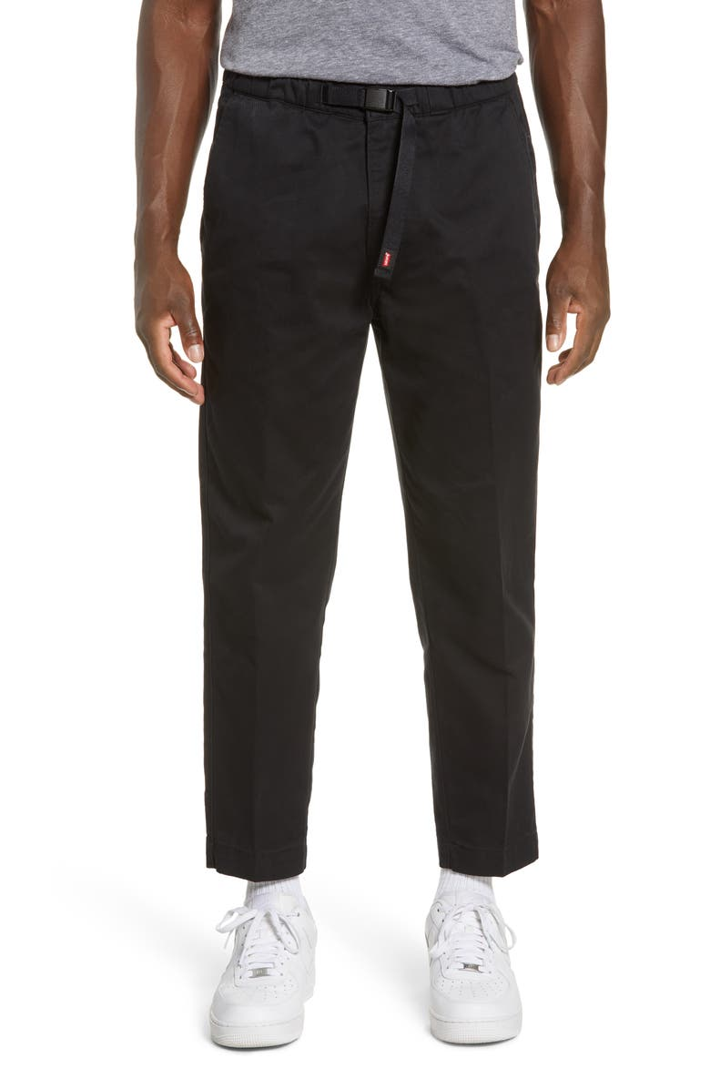 LEVI'S<SUP>®</SUP> Adjustable Belt Tapered Pants, Main, color, CAVIAR