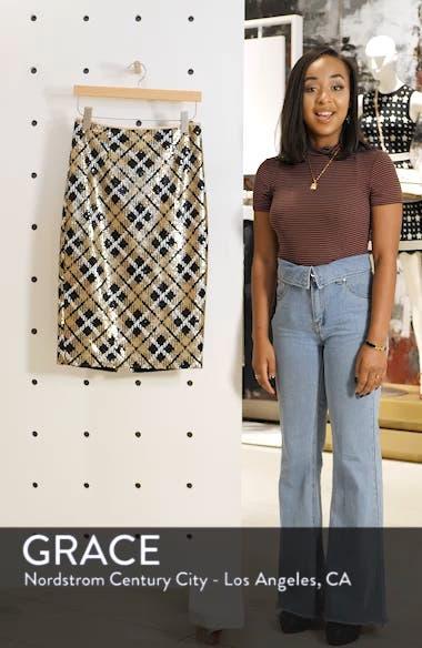 Sequin Plaid Pencil Skirt, sales video thumbnail