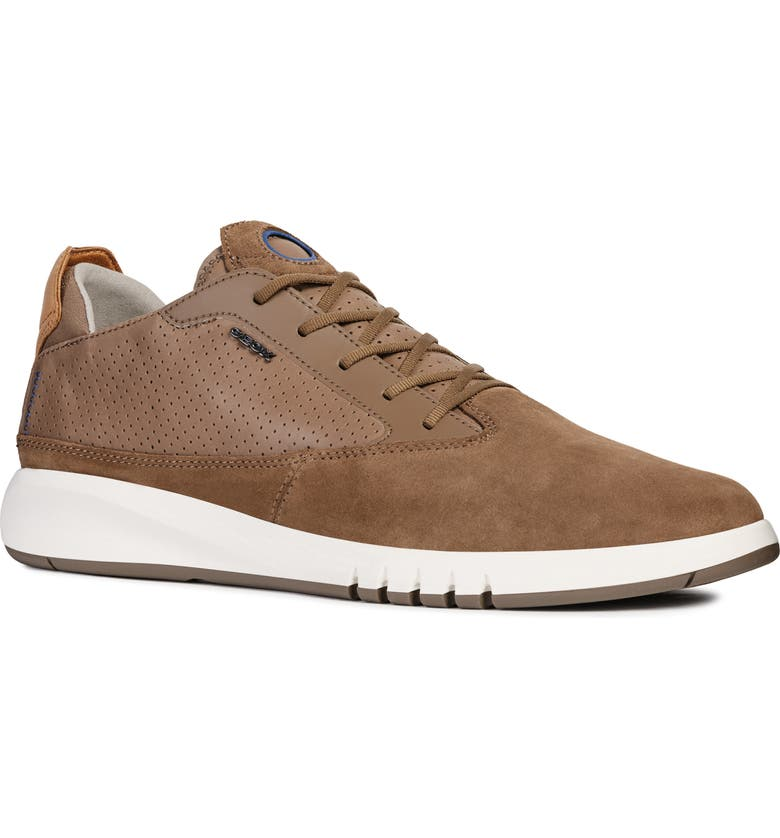 GEOX Aerantis 2 Sneaker, Main, color, CHOCOLATE SUEDE
