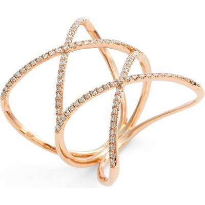 Bony Levy Diamond Double Crisscross Ring (Nordstrom Exclusive)