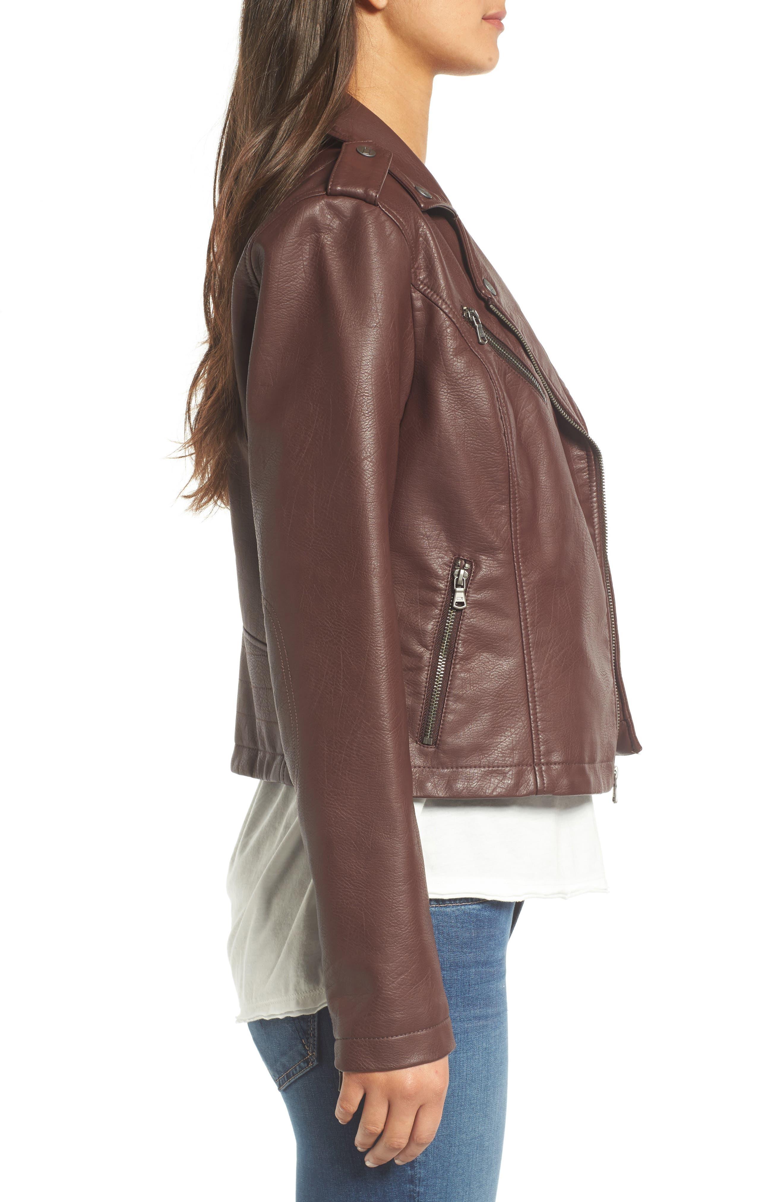 ,                             Faux Leather Moto Jacket,                             Alternate thumbnail 34, color,                             935