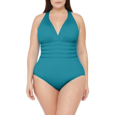 Plus Size La Blanca Island Goddess One-Piece Swimsuit