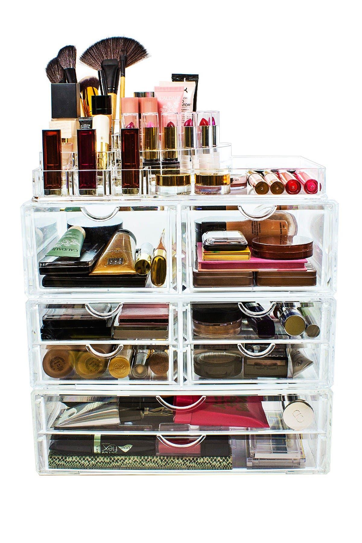Image of Sorbus Acrylic 4 Level Cosmetics Makeup & Jewelry Storage Case X-Large Display Set