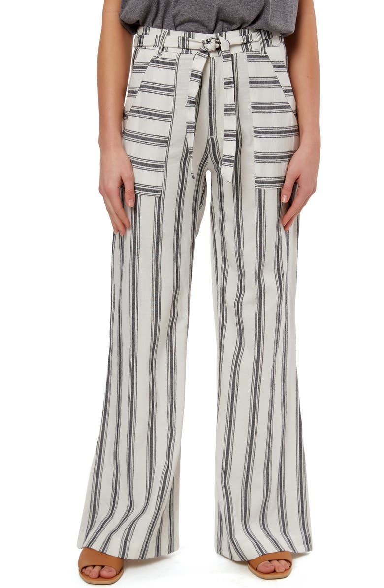 O'NEILL Sandoval Stripe Belted Wide Leg Pants, Main, color, 900