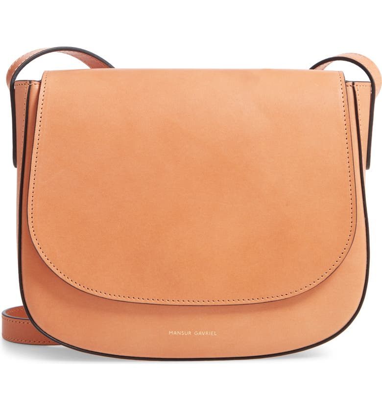 MANSUR GAVRIEL Leather Crossbody Bag, Main, color, CAMELLO/ RAW