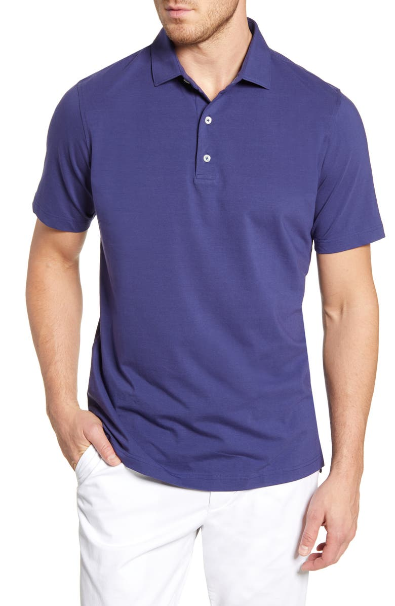 JOHNNIE-O Giggs Classic Fit Stretch Cotton Polo, Main, color, TWILIGHT