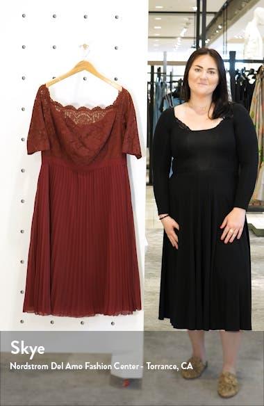 Curve Ioana Lace & Pleated Chiffon Cocktail Dress, sales video thumbnail