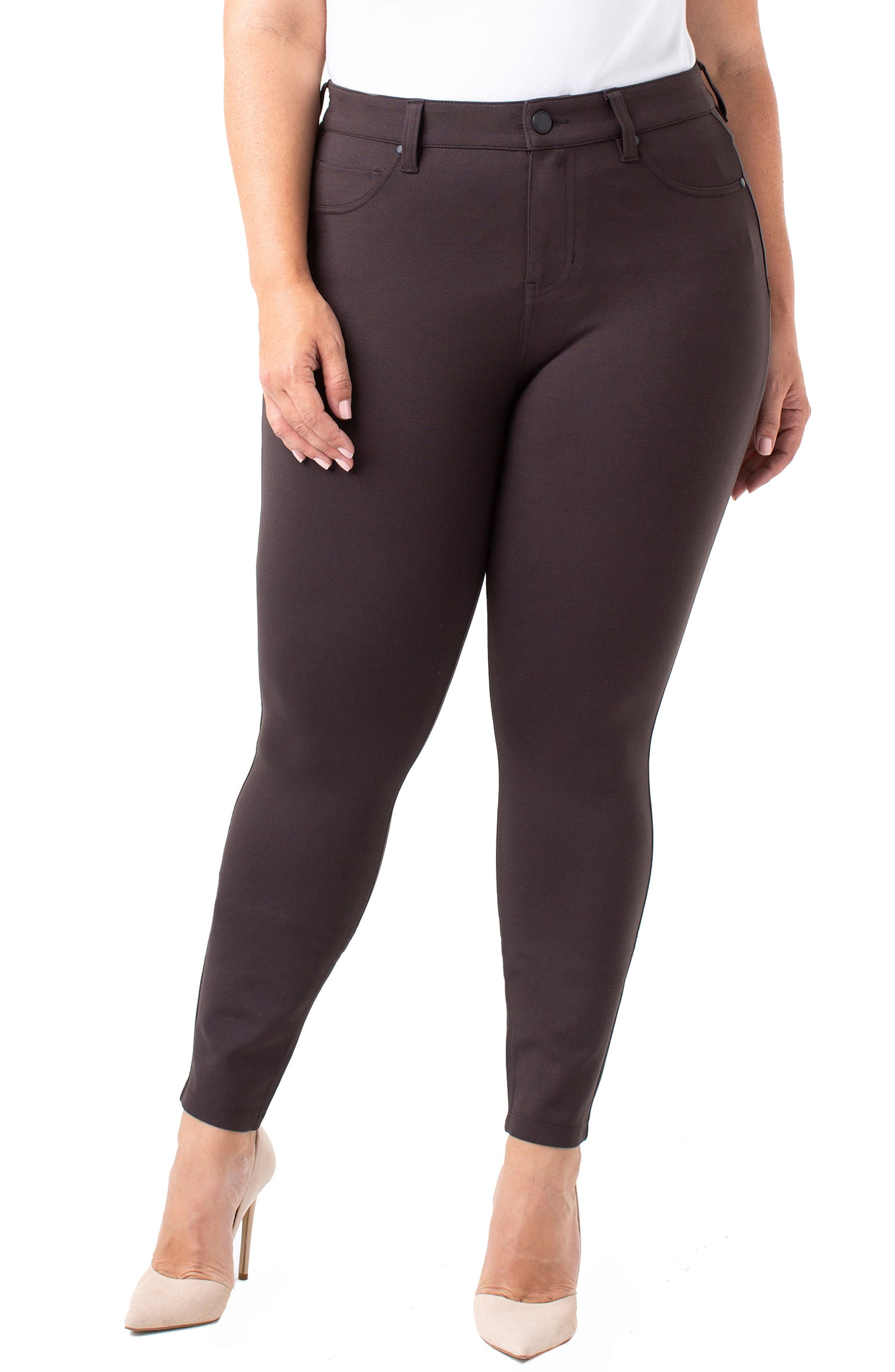 Plus Size Liverpool Madonna Leggings, Brown
