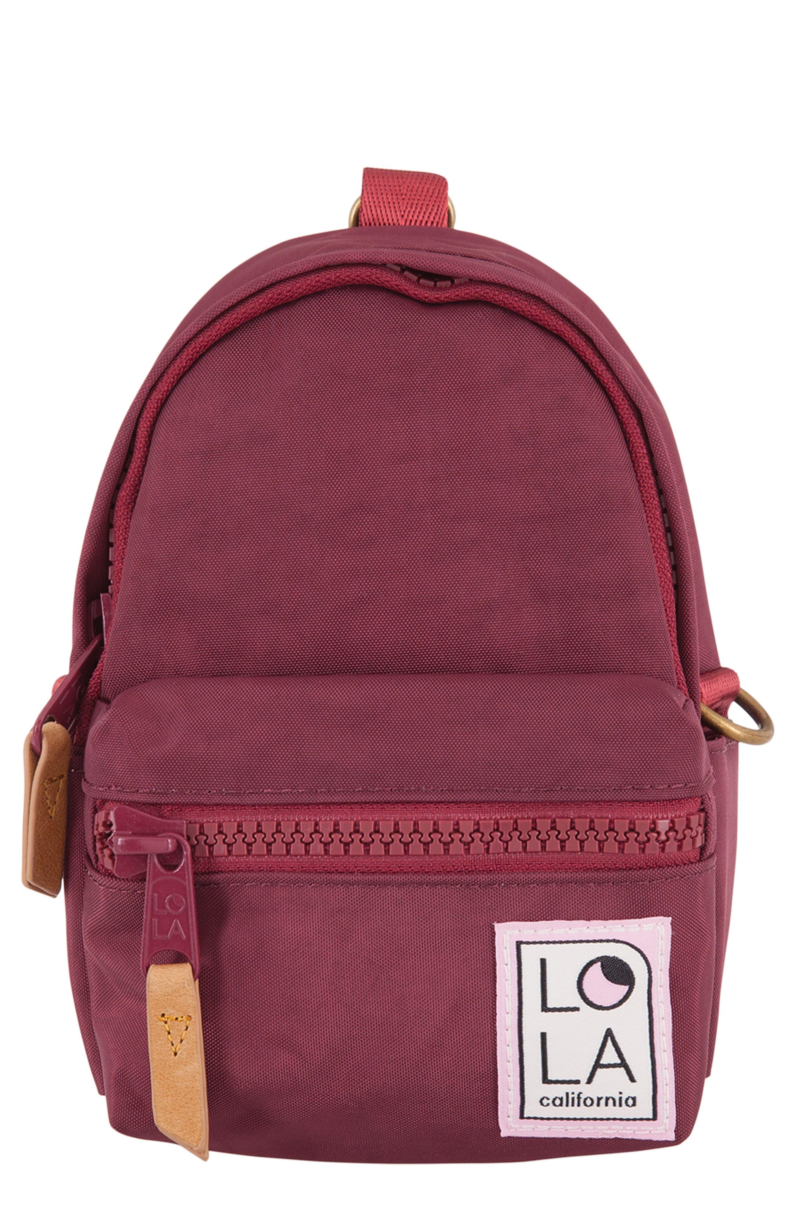 Lola Los Angeles Stargazer Mini Convertible Backpack - Burgundy