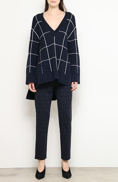 Windowpane Tunic Sweater, video thumbnail