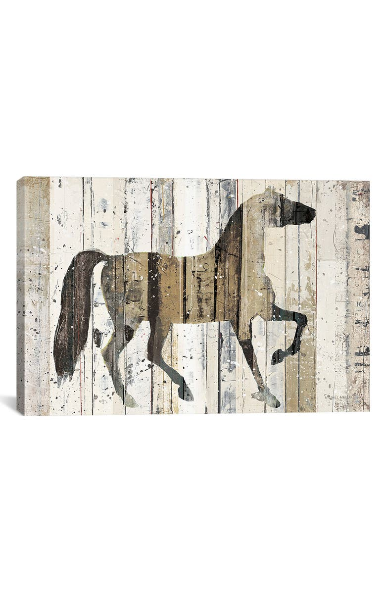 ICANVAS Dark Horse by Michael Mullan Giclée Print Canvas Art, Main, color, WHITE/ BROWN/ GRAY/ BLACK
