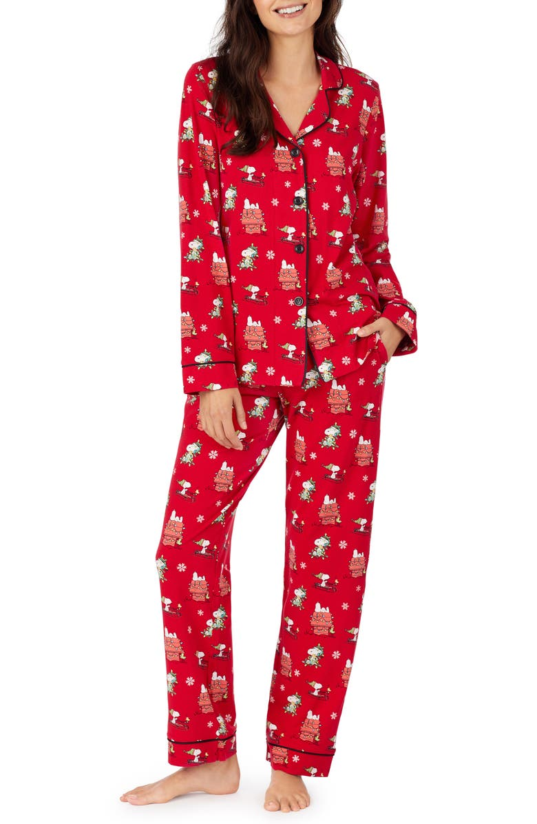 BEDHEAD PAJAMAS Peanuts<sup>®</sup> Snoopy<sup>®</sup> Holiday Pajamas, Main, color, MERRY CHRISTMAS SNOOPY