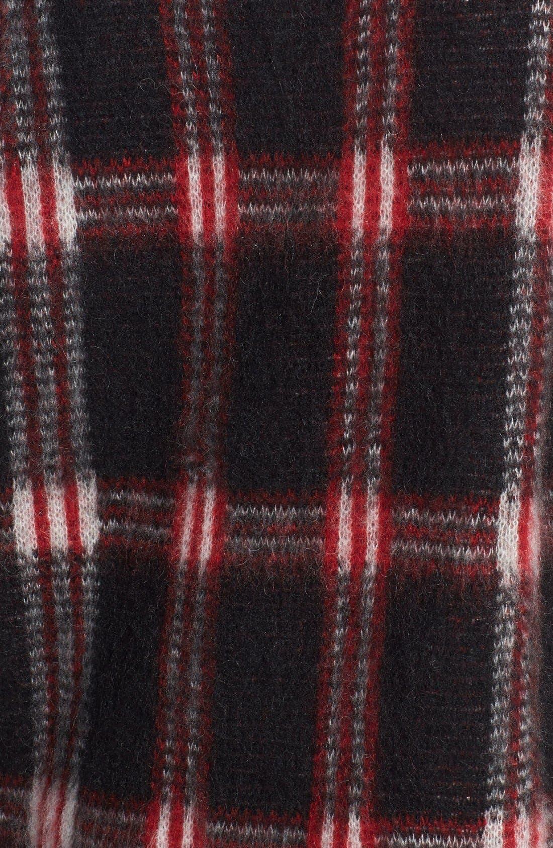 ,                             Plaid Crewneck Sweater,                             Alternate thumbnail 4, color,                             012