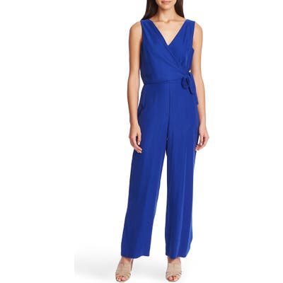 1.state Wrap Front Sleeveless Soft Twill Jumpsuit