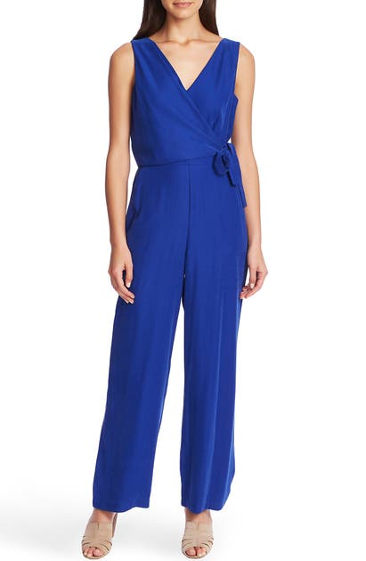 1.state Suits WRAP FRONT SLEEVELESS SOFT TWILL JUMPSUIT