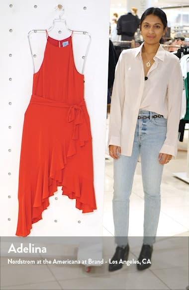Asymmetrical Cascading Ruffle Hem Dress, sales video thumbnail