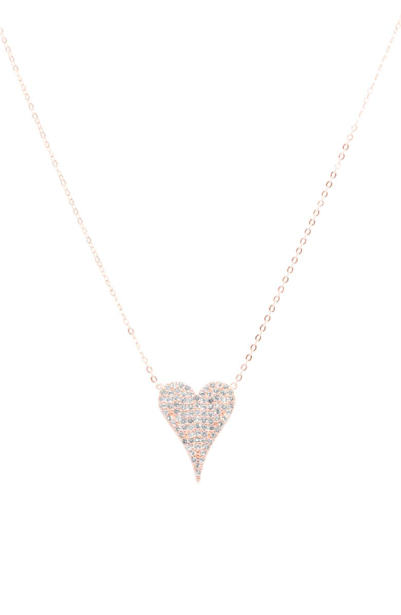 RAGEN JEWELS Happy Heart Pendant Necklace, Main, color, ROSE GOLD
