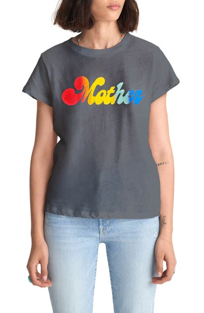 MOTHER 'THE BOXY GOODIE GOODIE' COTTON GRAPHIC TEE