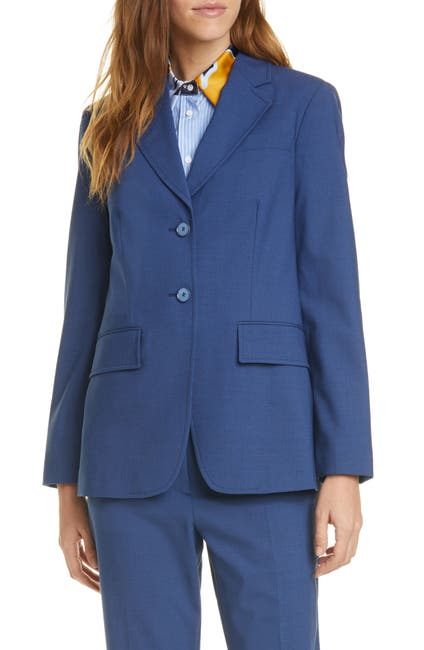 Image of JUDITH AND CHARLES Nice Stretch Wool Blazer