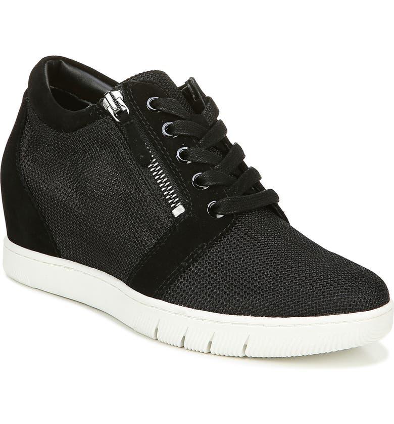 NATURALIZER Kai Wedge Sneaker, Main, color, BLACK FABRIC