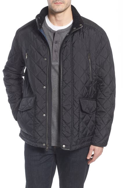 Image of Cole Haan Herringbone Yoke Quilted Jacket