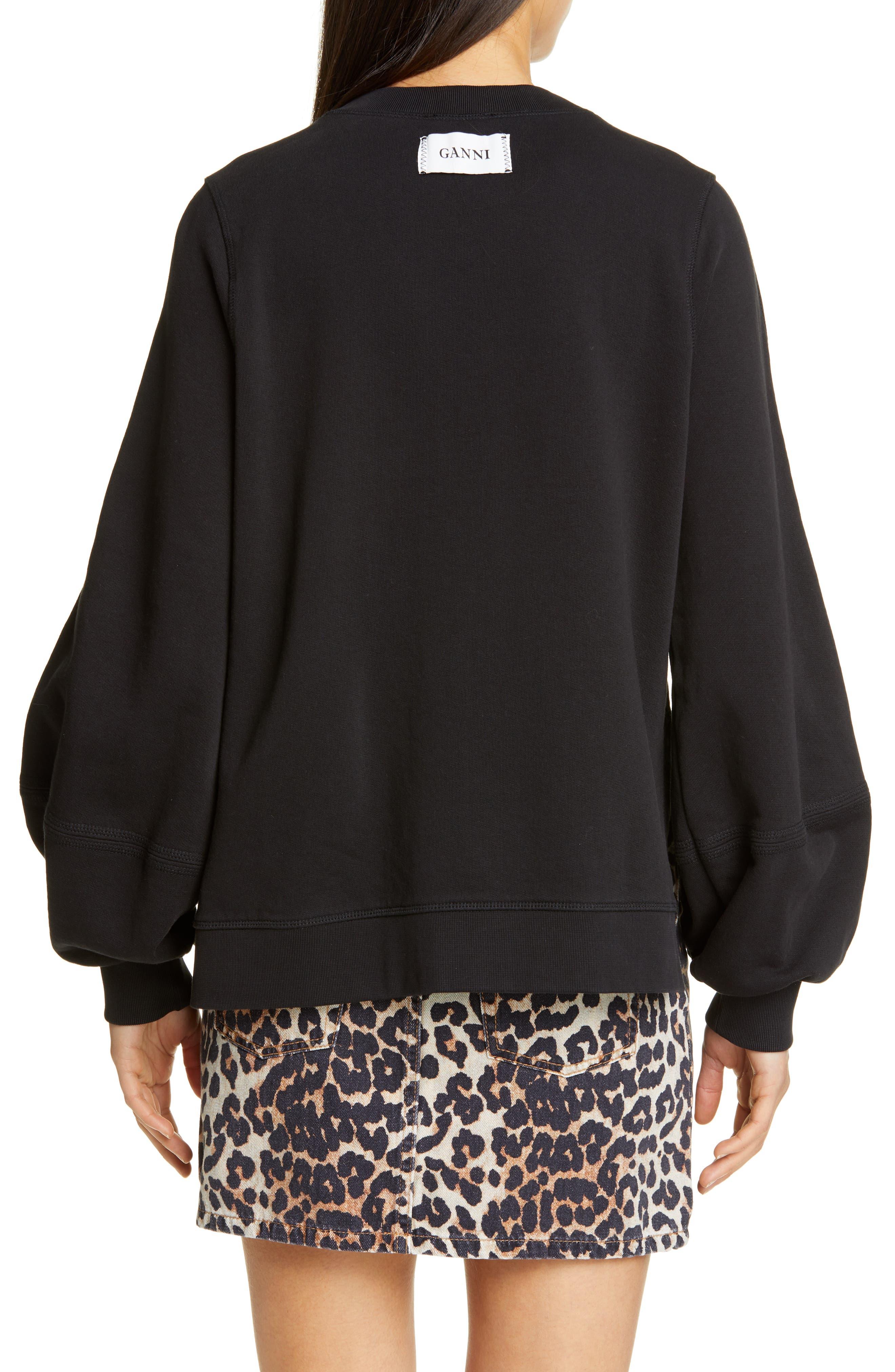 Ganni T-shirts Isoli Sweatshirt