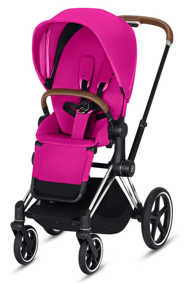 CYBEX Priam One Box Stroller with All Terrain Wheels, Main, color, FANCY PINK