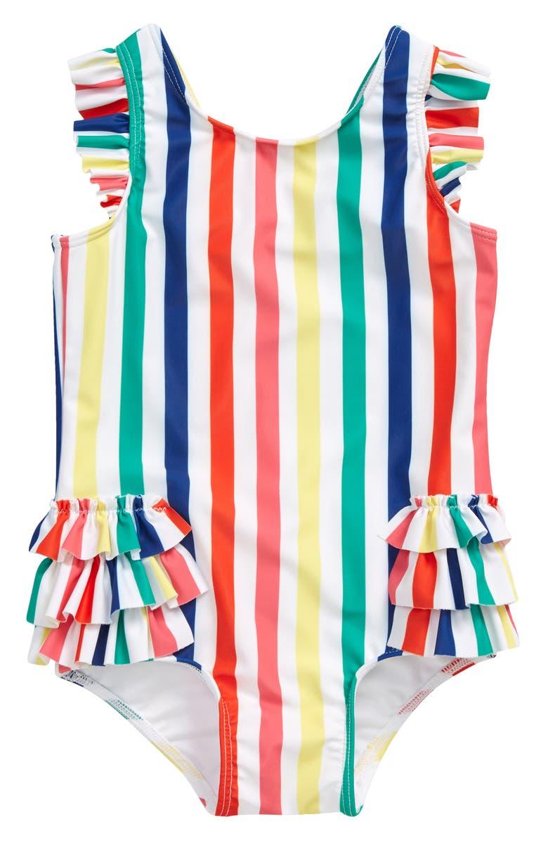 TUCKER + TATE Ruffle One-Piece Swimsuit, Main, color, 100