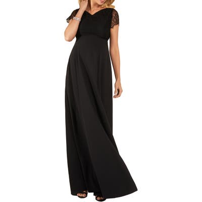 Tiffany Rose Eleanor Maternity A-Line Gown, Black