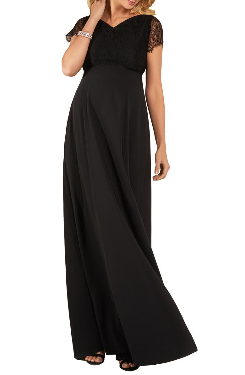 TIFFANY ROSE Eleanor Maternity Gown, Main, color, BLACK