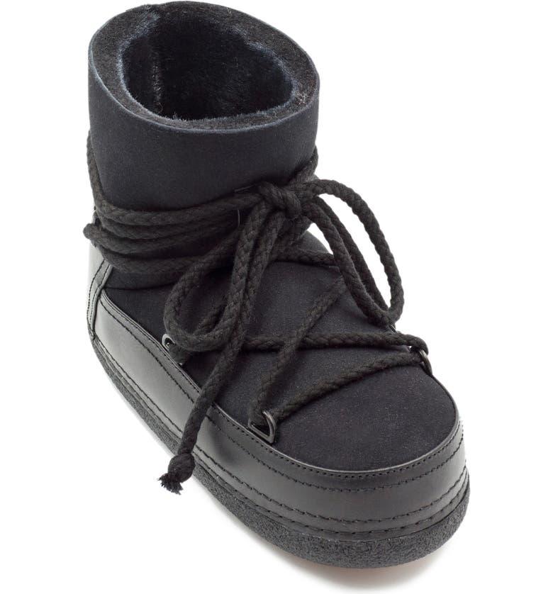 INUIKII Classic Genuine Shearling Boot, Main, color, BLACK