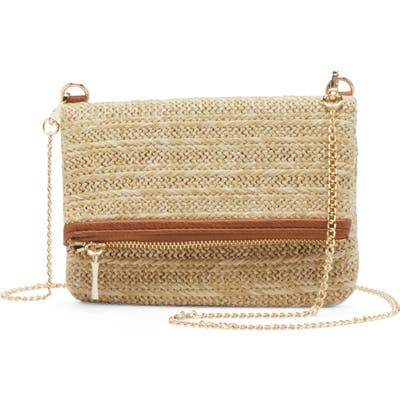 Sole Society Straw Belt Bag - Brown
