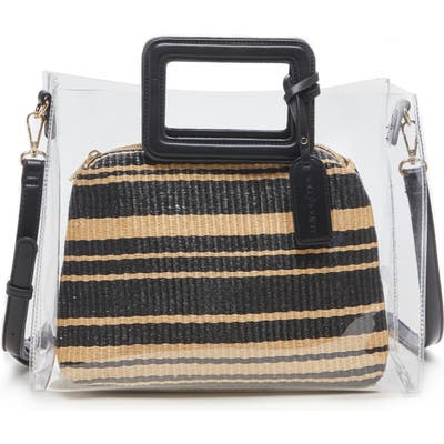 Sole Society Avah Transparent Tote - Black