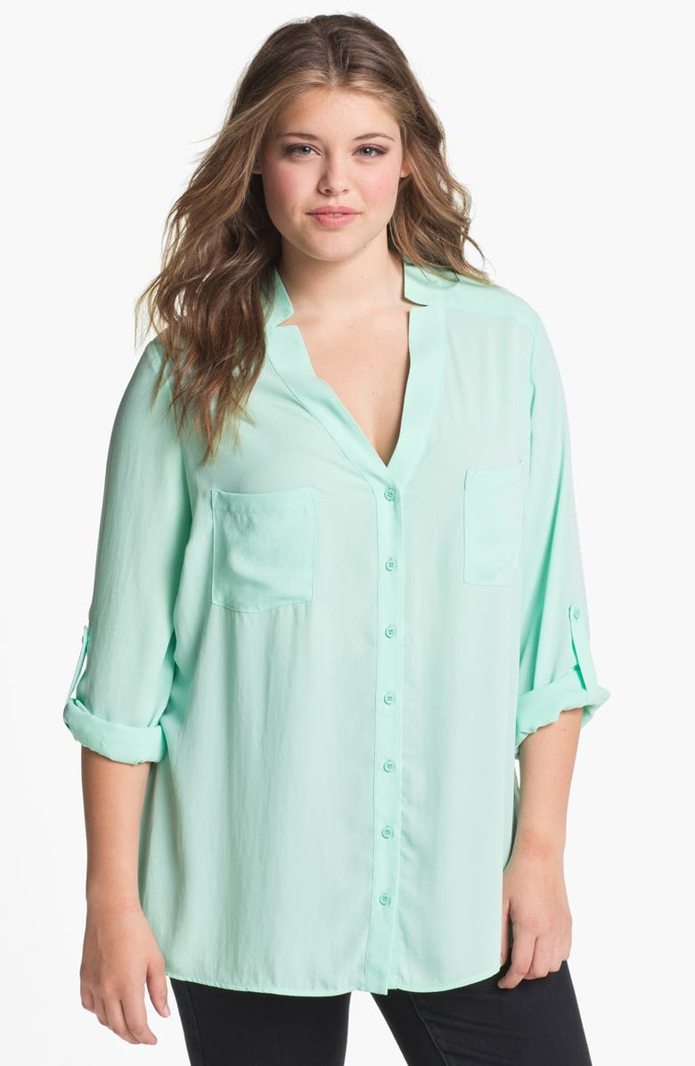 PLEIONE V-Neck Blouse, Main, color, 320