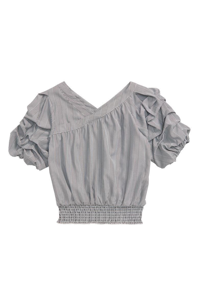 HABITUAL Adrienne Gathered Stripe Top, Main, color, MULTI