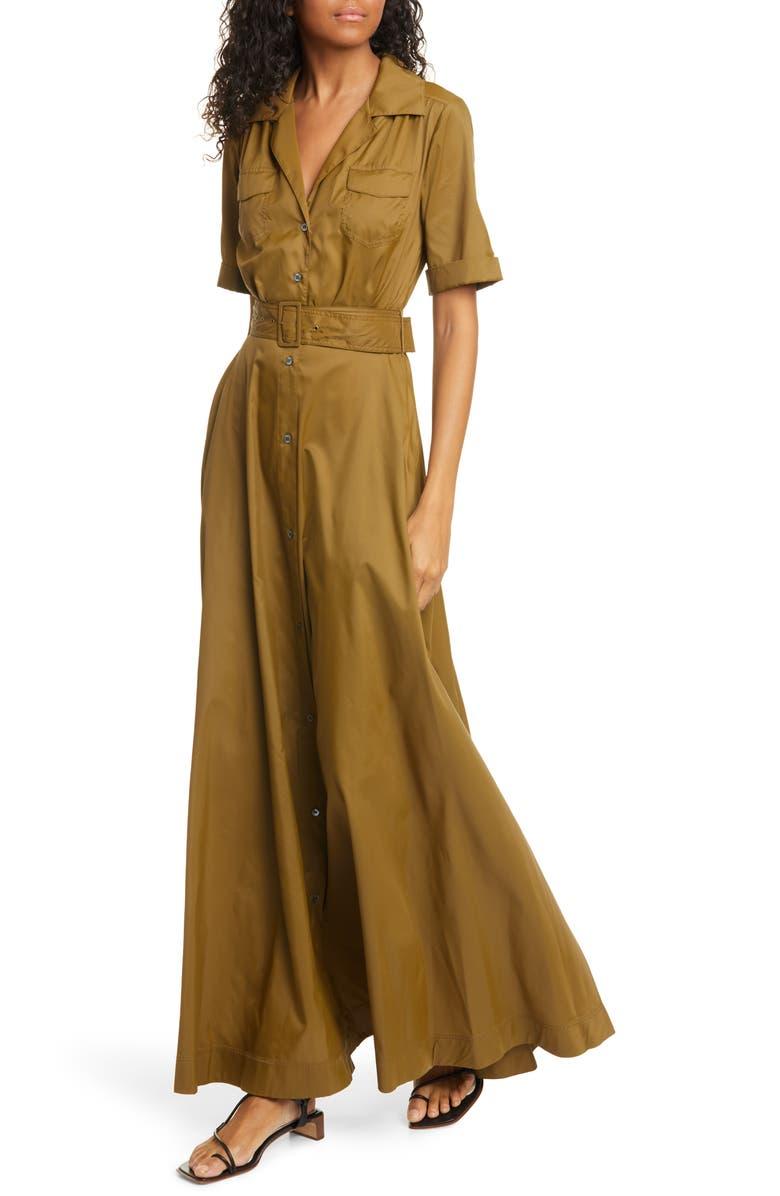 STAUD Millie Maxi Dress, Main, color, CAPER