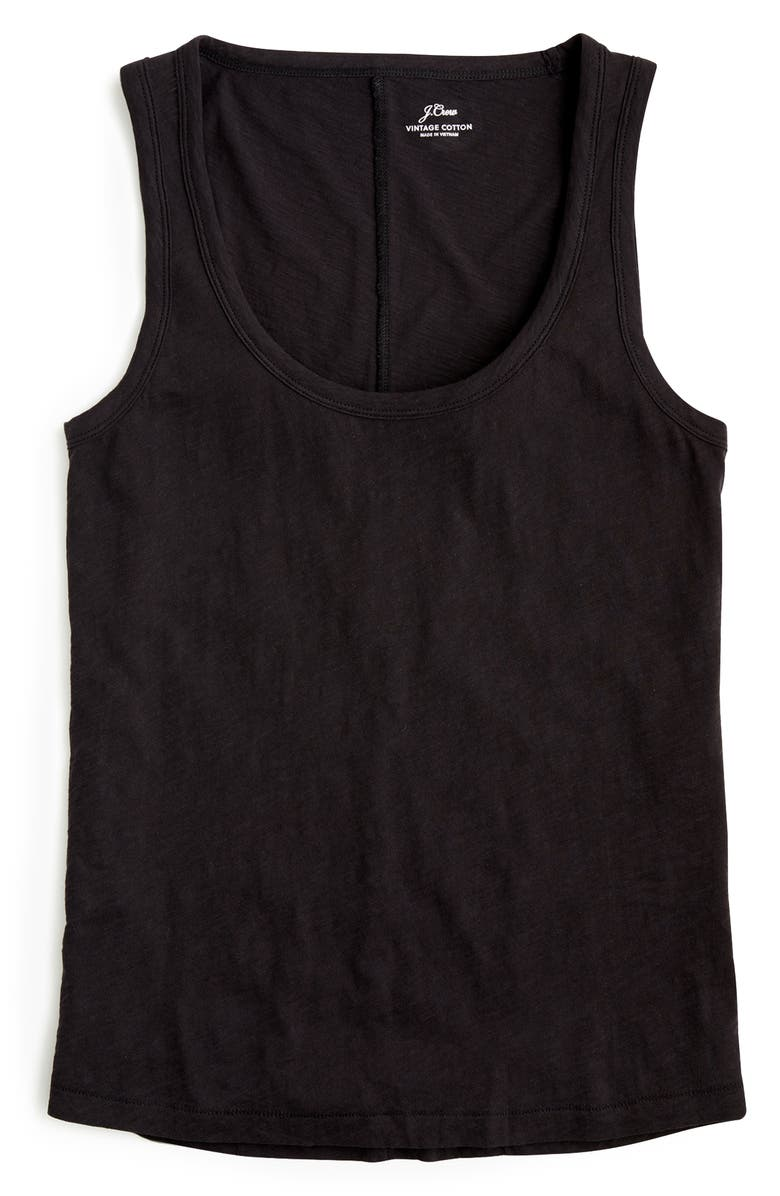 J.CREW Vintage Cotton Tank, Main, color, 001
