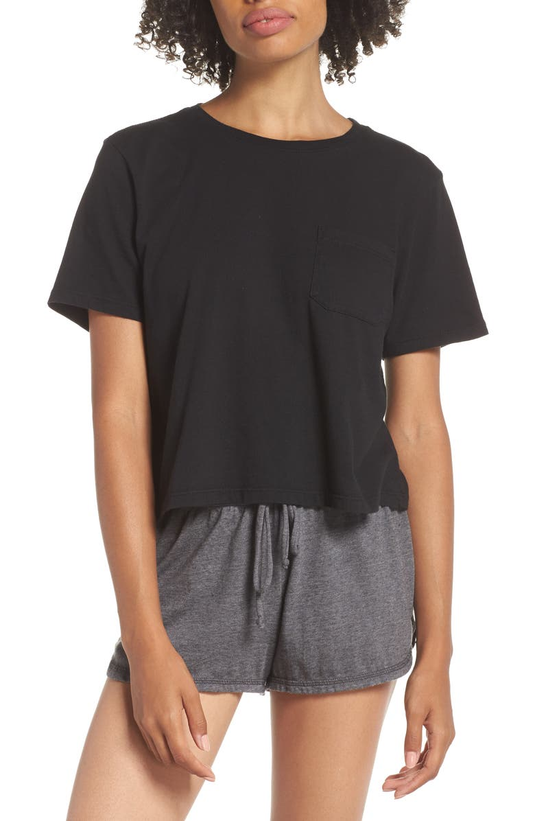RICHER POORER Boxy Crop Tee, Main, color, 002