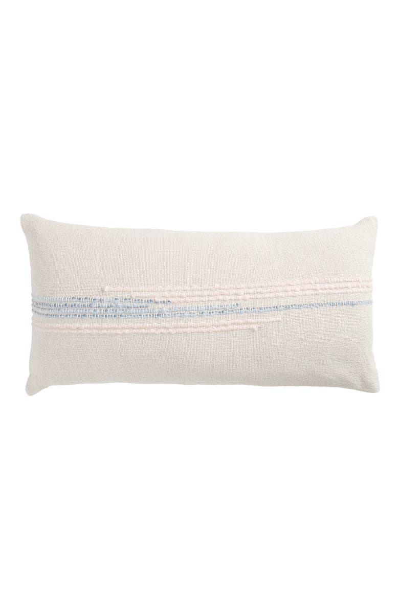 TREASURE & BOND Embroidered Cotton Blend Accent Pillow, Main, color, GREY FOG