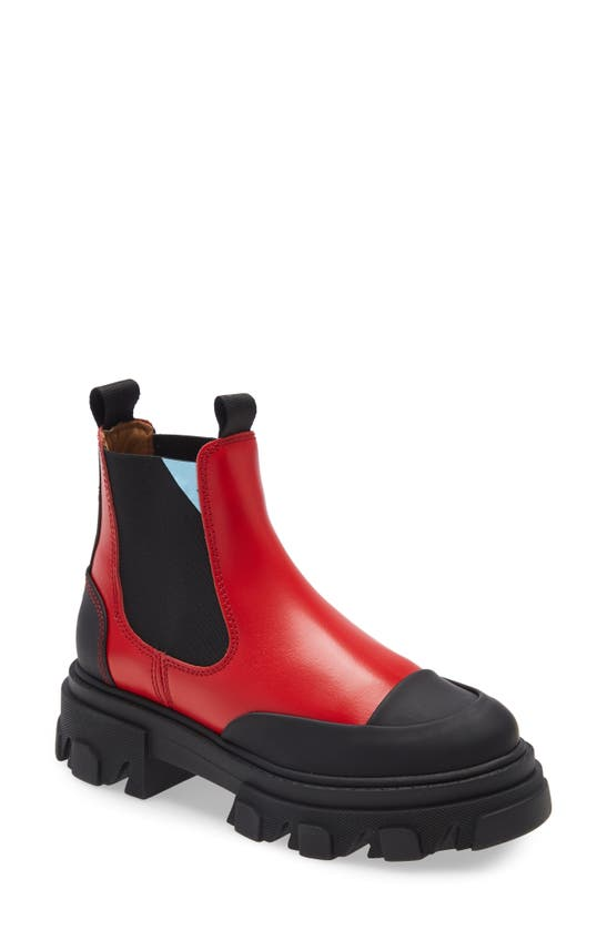 Ganni CALF LEATHER LOW CHELSEA BOOT