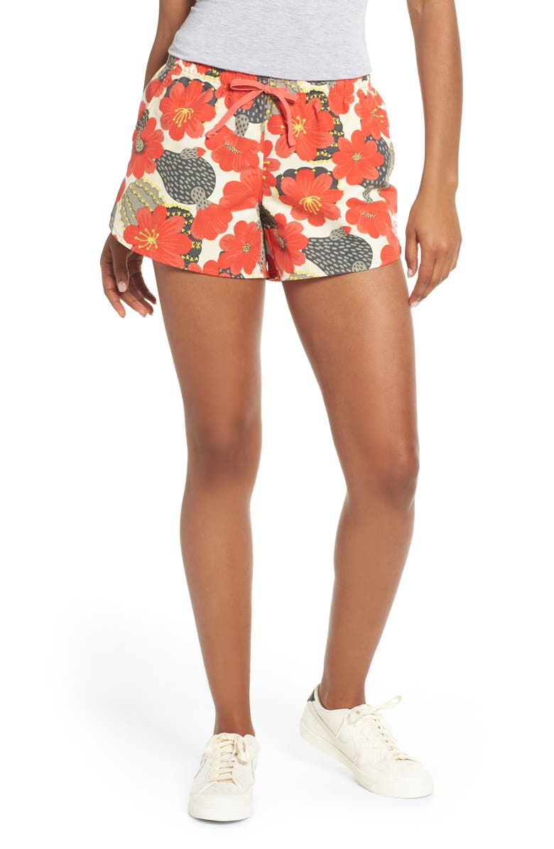 THE NORTH FACE Class V Shorts, Main, color, CORAL FLORAL PRINT