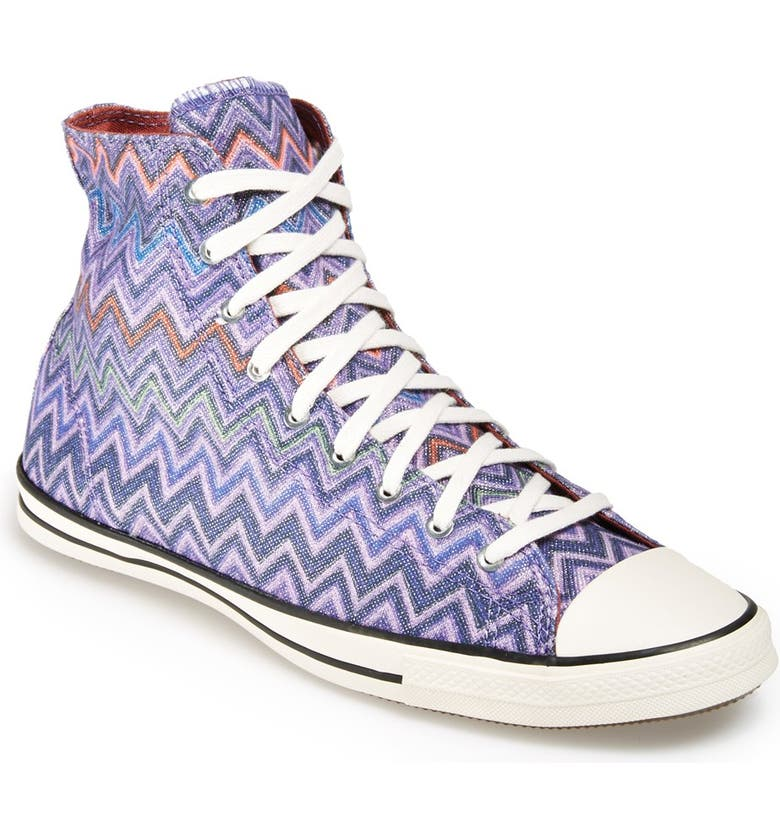CONVERSE x Missoni Chuck Taylor<sup>®</sup> All Star<sup>®</sup> High Top Sneaker, Main, color, HOLLYHOCK