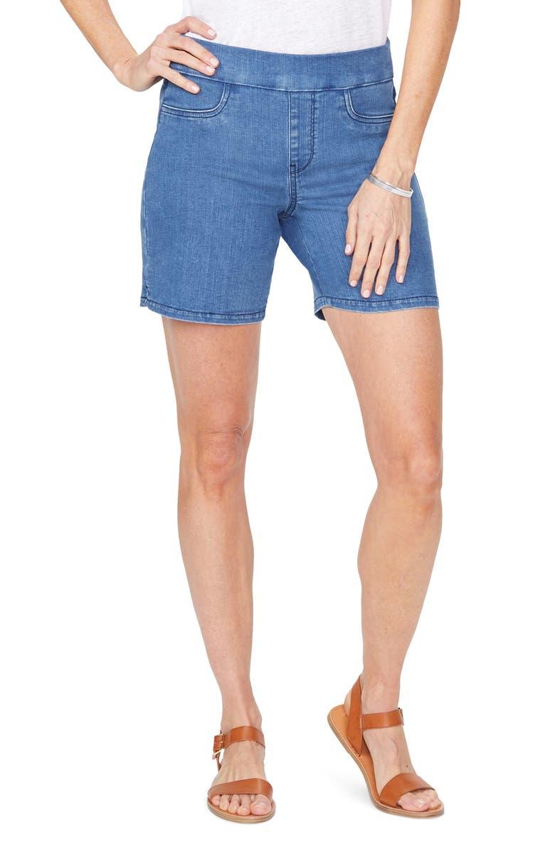 NYDJ Pull-On Stretch Denim Shorts, Main, color, PERALTA